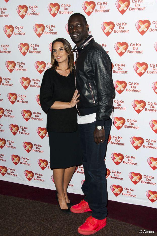 Omar Sy et sa femme Hélène à l'avant-première de Samba, le 14 octobre 2014 à Paris