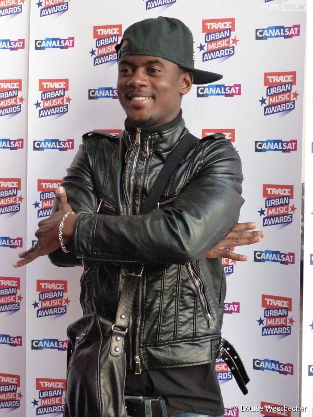 Black M lors de la conférence de presse de Trace Urban Music Awards 2014 au Casino de Paris, le 23 septembre 2014
