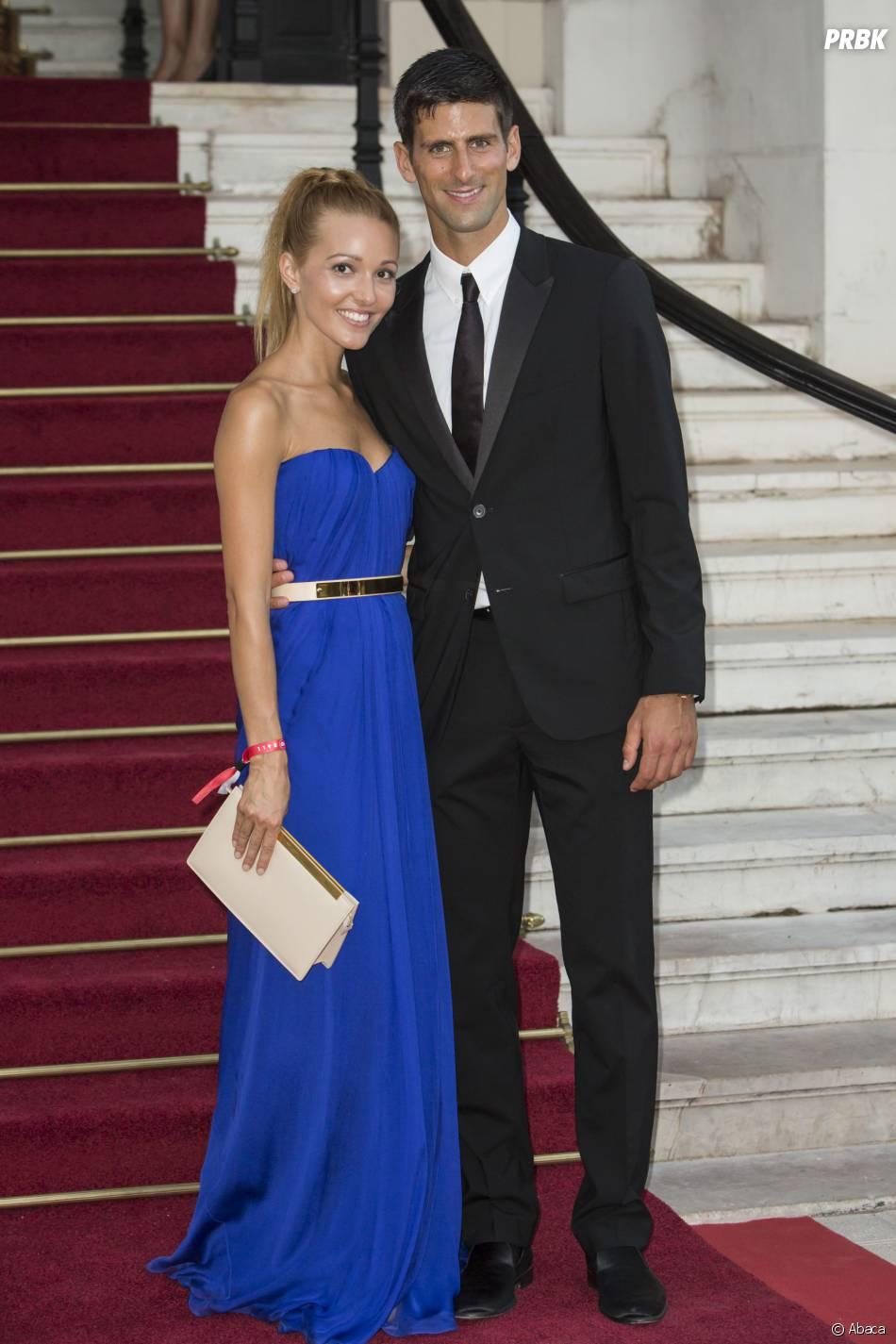 Novak Djokovic et Jelena Ristic en couple à Monaco, le 27 juillet 2013