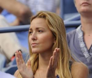 Jelena Ristic groupie de Novak Djokovic pendant l'US Open 2011