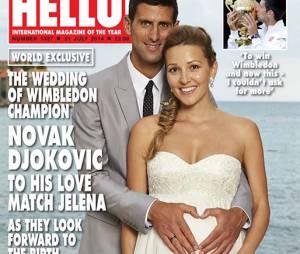 Novak Djokovic et Jelena Ristic mariés en Une du magazine Hello