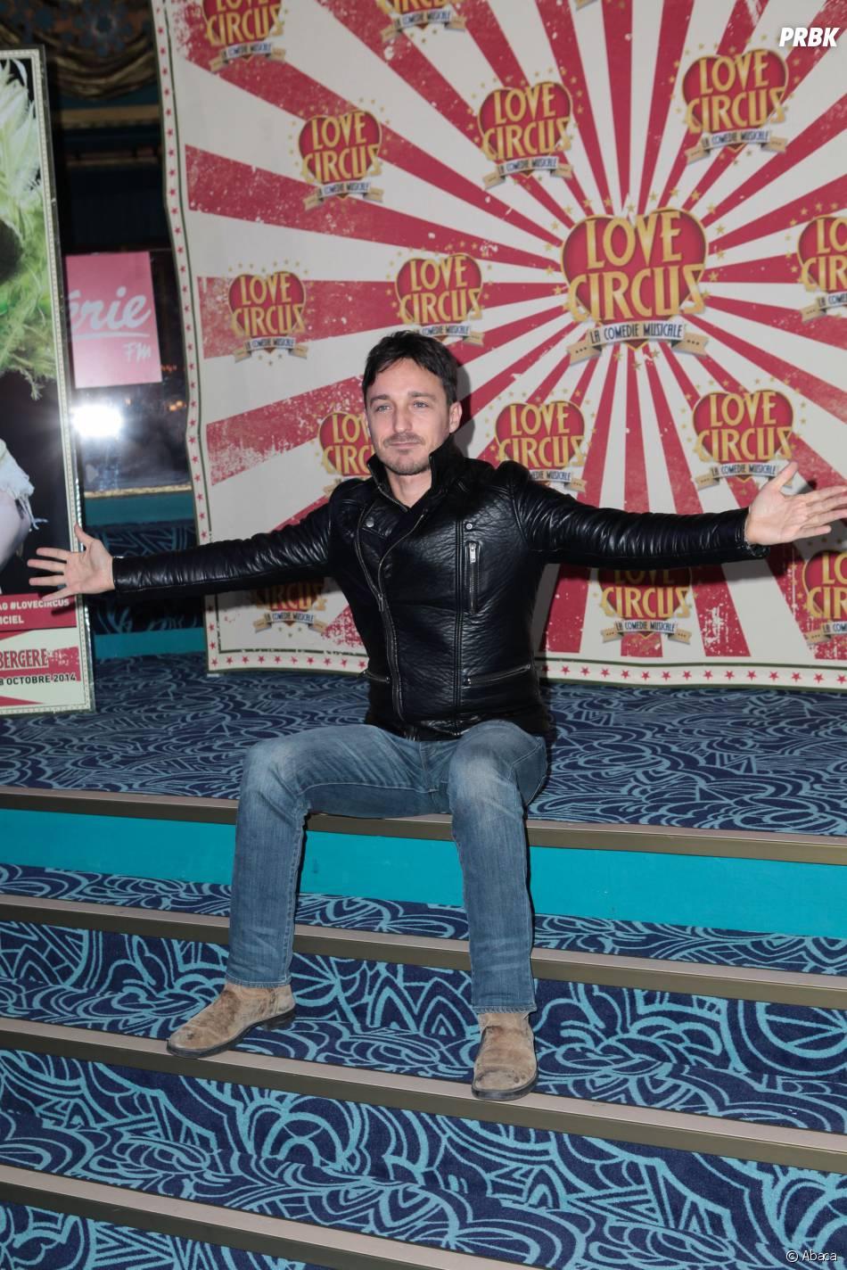 Sorel à la première de Love Circus, le 28 octobre 2014, aux Folies Bergères