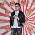 Alban Bartoli en mode bad boy à la première de Love Circus, le 28 octobre 2014, aux Folies Bergères