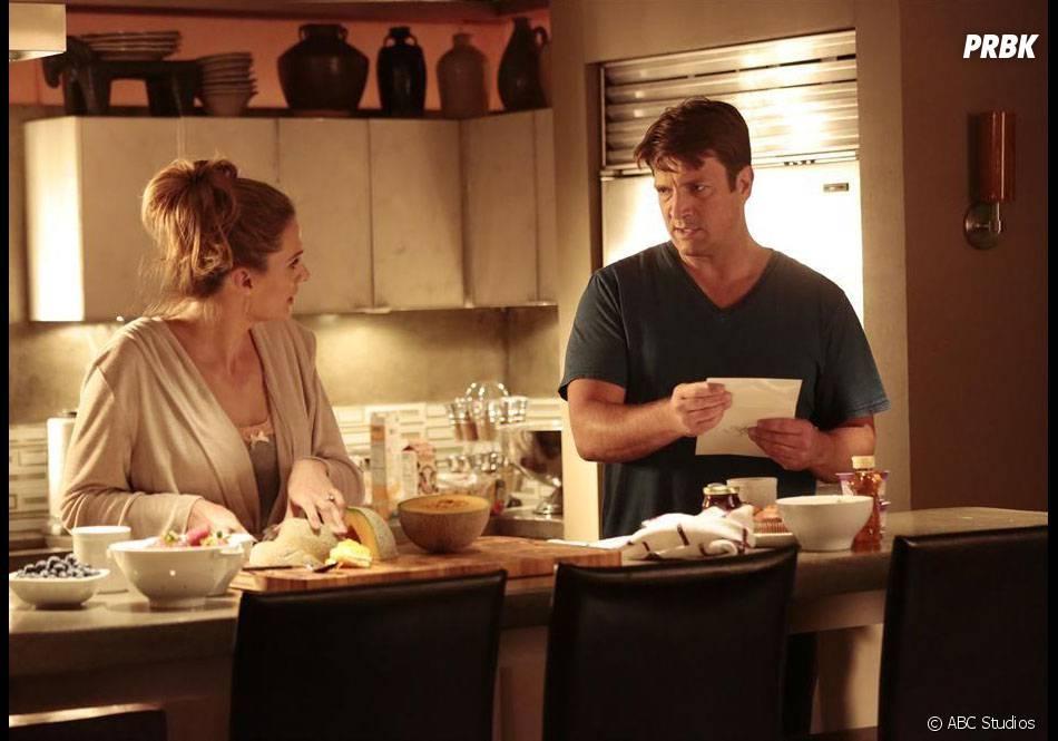 Castle saison 7, épisode 6 : Stana Katic et Nathan Fillion sur une photo