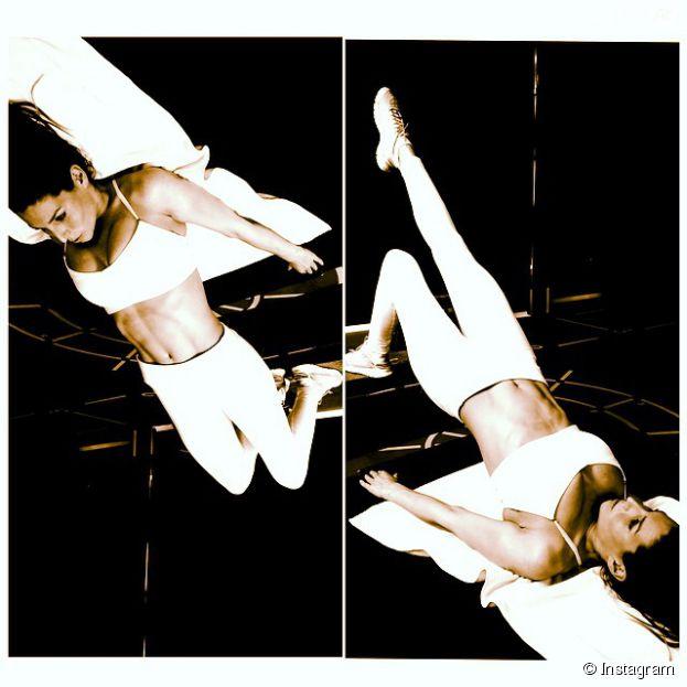 Laury Thilleman : sexy pour une séance d'abdos sur Instagram