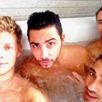 Matthieu Delormeau : jacuzzi, massage... week-end entre potes avec Alban Bartoli