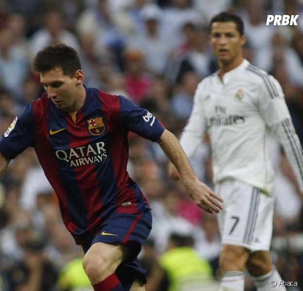 Cristiano Ronaldo et Lionel Messi pendant le Clasico, le 25 octobre 2014 à Madrid