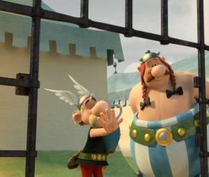 Astérix - Le Domaine des Dieux : Astérix et Obélix sur une photo