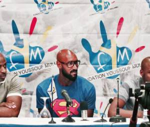Nicolas Anelka et son t-shirt quenelle à Kinshasa, le 12 juin 2014