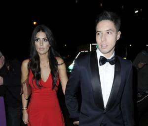 Anara Atanes et Samir Nasri lors du gala de charité de la Fondation James Milner, le 30 novembre 2014 à Manchester