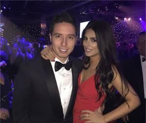 Samir Nasri et Anara Atanes lors du gala de charité de la Fondation James Milner, le 30 novembre 2014 à Manchester