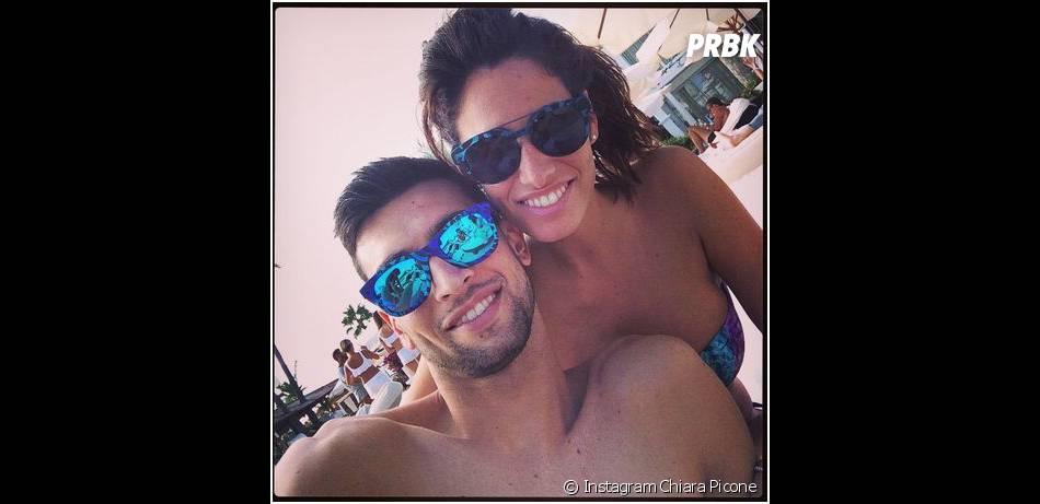 Javier Pastore et sa copine Chiara Picone pendant l'été 2014