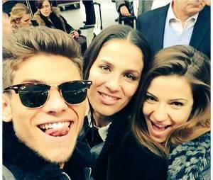 Rayane Bensetti, Denitsa Ikonomova et Elisa Tovati au programme de la cérémonie des NMA 2014 sur TF1, le 13 décembre 2014