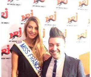 Camille Cerf - Miss France 2015 et Chris Marques au programme de la cérémonie des NMA 2014 sur TF1, le 13 décembre 2014