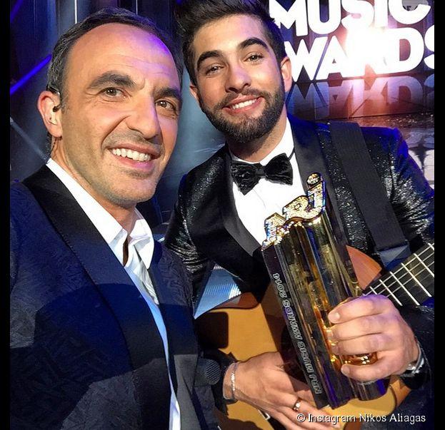 NRJ Music Awards 2014 : Nikos Aliagas et Kendji Girac