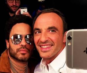 NRJ Music Awards 2014 : Nikos Aliagas et Lenny Kravitz