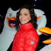 Nathalie Péchalat sur la glace avec Les Pingouins de Madagascar