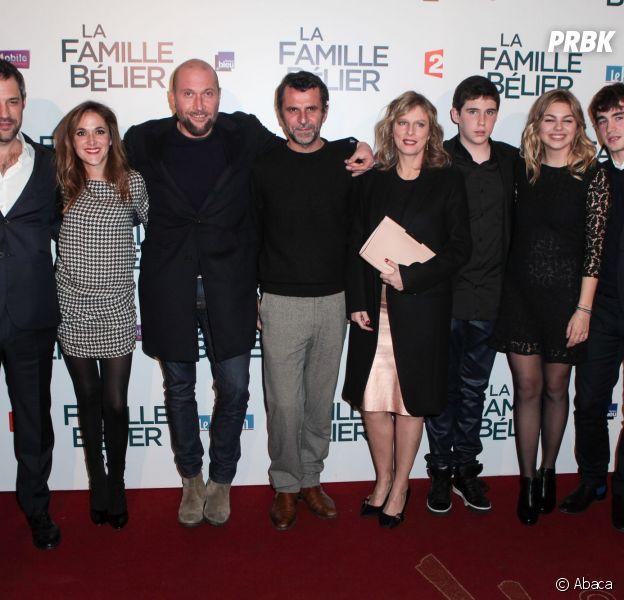 L'équipe de La Famille Bélier à l'avant-première du film, le 9 décembre 2014 au Grand Rex de Paris