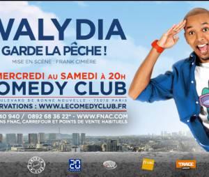 Waly Dia en spectacle au Comedy Club en janvier 2015