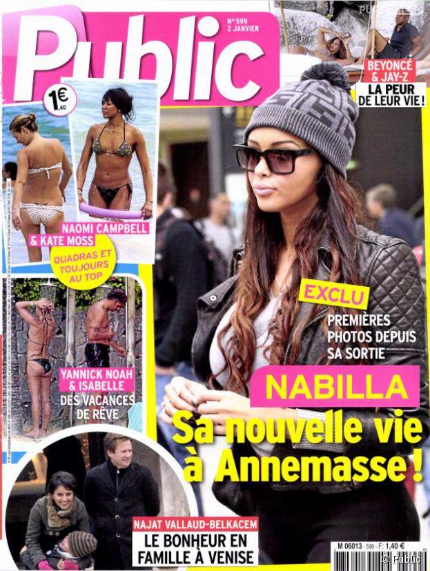 Nabilla Benattia : sa vie à Annemasse en Une du magazine Public, en kiosque le 2 janvier 2014