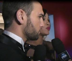 Leila Ben Khalifa et Aymeric Bonnery : confidences à PureBreak lors des Lauriers TV Awards 2015, le 6 janvier, à la Cigale