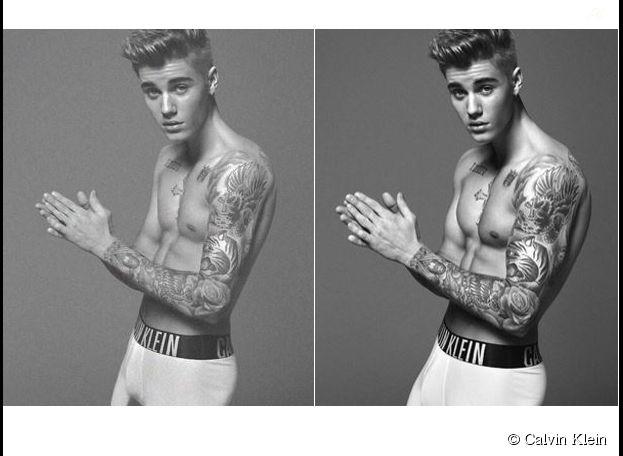 Justin Bieber photoshoppé pour la nouvelle campagne de Calvin Klein ?