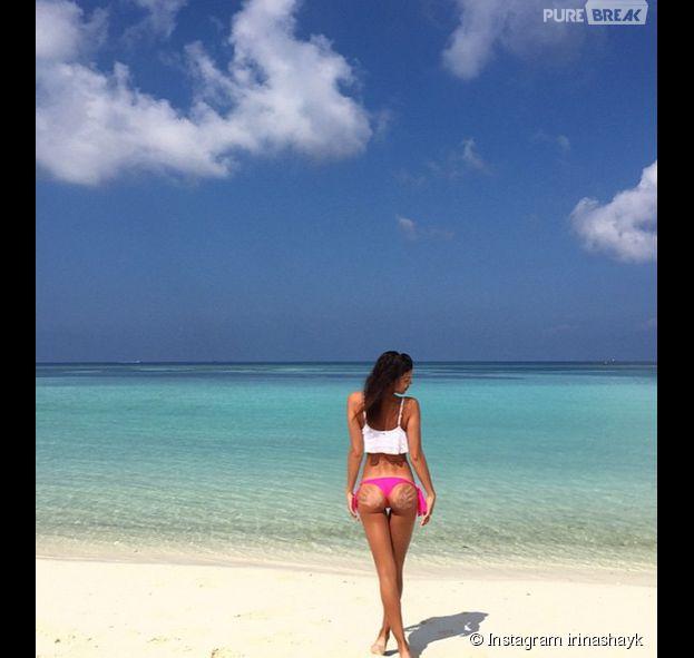 Irina Shayk ultra sexy à la plage pour son anniversaire, le 6 janvier 2015