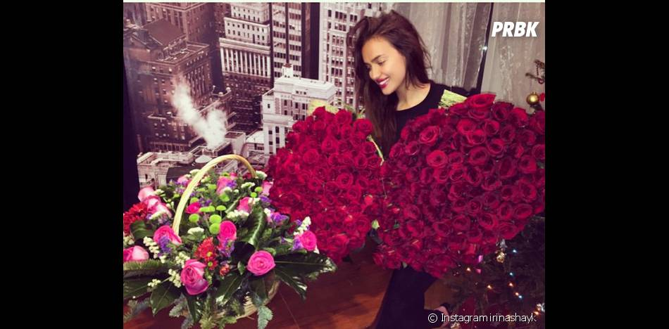irina shayk gros bouquets de fleurs pour son anniversaire le 6 janvier 2015. Black Bedroom Furniture Sets. Home Design Ideas