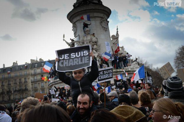 1.5 million de Français se sont réunis pour la marche républicaine contre le terrorisme à Paris, le 11 janvier 2014