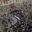 Les rues de Paris envahies par 1.5 million de Français à l'occasion de la marche républicaine contre le terrorisme, le 11 janvier 2014