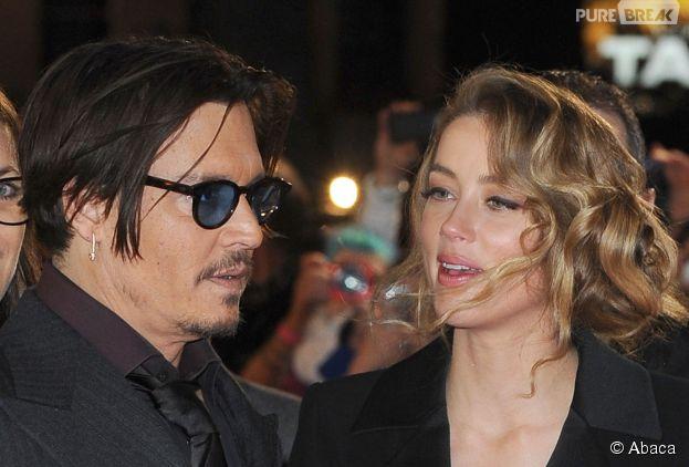 Johnny Depp et Amber Heard à l'avant-première de Charlie Mortdecai, le 19 janvier 2015 à Londres