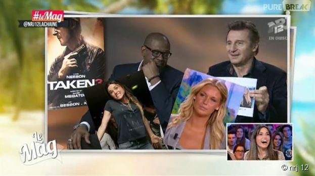 Capucine Anav : Liam Neeson (Taken 3) séduit par la chroniqueuse du Mag de NRJ 12