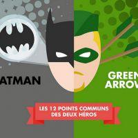 Arrow : les 12 points communs entre Bruce Wayne (Batman) et Oliver Queen en infographie