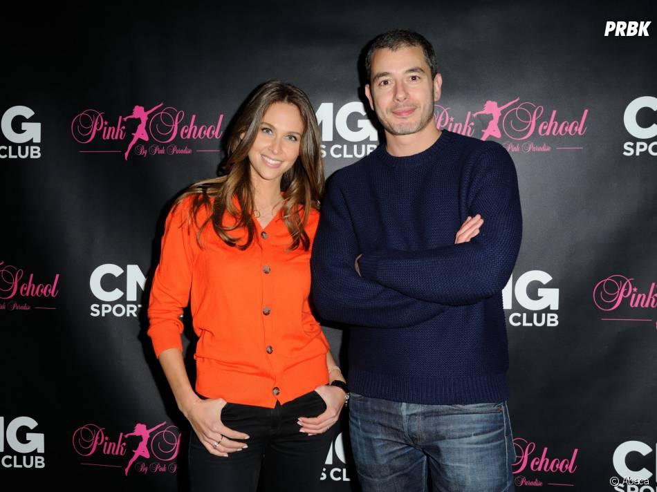 Ophélie Meunier et Ali Baddou à la soirée de lancement des cours de pole dance par le CMG Sports Club et la Pink School, le 22 janvier 2015 à Paris