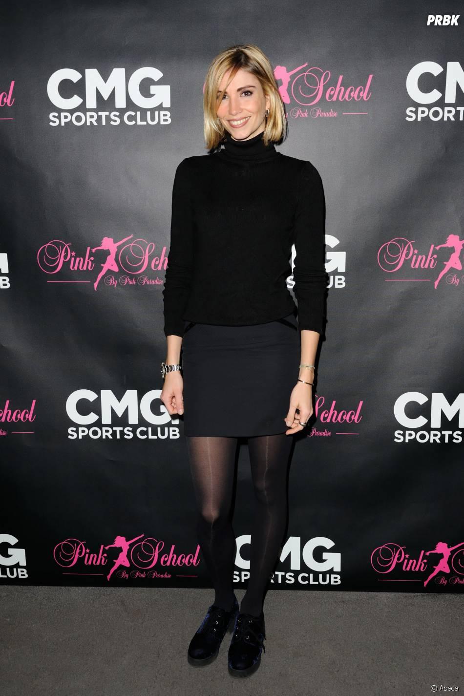 Alexandra Rosenfeld à la soirée de lancement des cours de pole dance par le CMG Sports Club et la Pink School, le 22 janvier 2015 à Paris