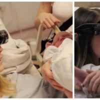 Emouvant : une maman aveugle voit son bébé pour la première fois