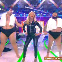 Enora Malagré sexy en cuir pour imiter Britney Spears dans le prime de TPMP