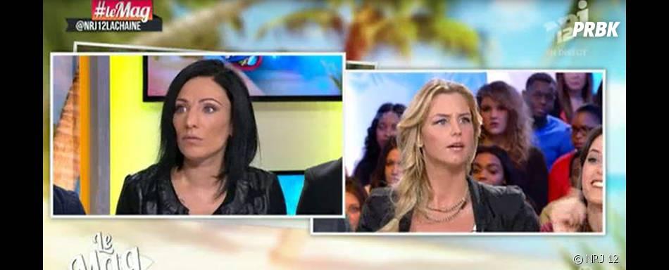 Aurélie Van Daelen clashe Ciny (Les Princes de l'amour 2) dans Le Mag de NRJ 12, le 2 février 2015