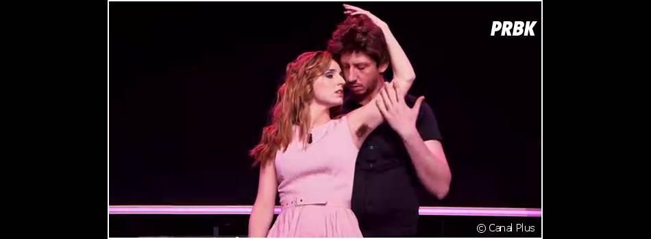 Alison Wheeler poilue dans sa parodie de Dirty Dancing avec Monsieur Poulpe