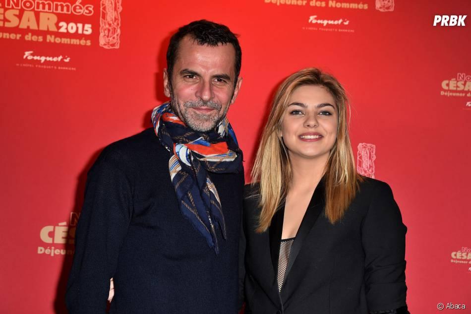 Louane Emera et le réalisateur Eric Latigeau au déjeuner des nommés des César 2015 le 7 février à Paris