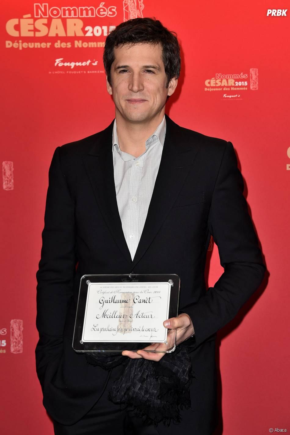Guillaume Canet au déjeuner des nommés des César 2015 le 7 février à Paris