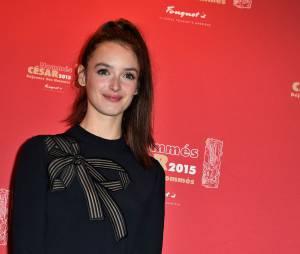 Charlotte Le Bon au déjeuner des nommés des César 2015 le 7 février à Paris