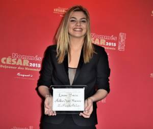 Louane Emera au déjeuner des nommés des César 2015 le 7 février à Paris