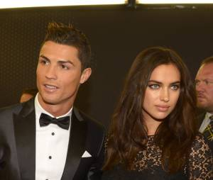 Cristiano Ronaldo et Irina Shayk en couple à la cérémonie du Ballon d'or 2013, le 13 janvier 2014 à Zurich