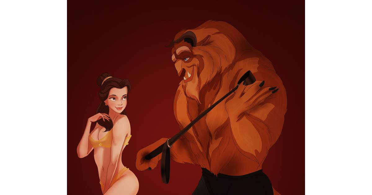 Cartoons de Disney dans le nu