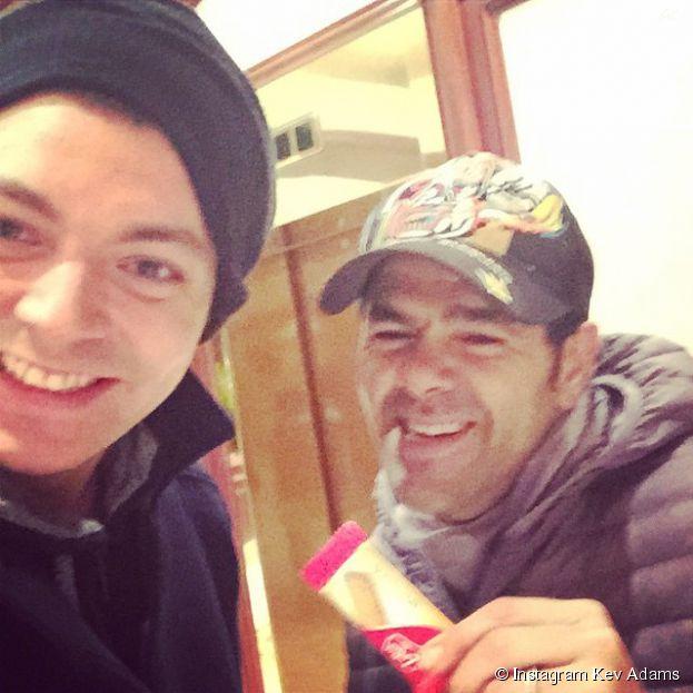 Kev Adams et Jamel Debbouze réunis à Bruxelles, le 12 février 2015
