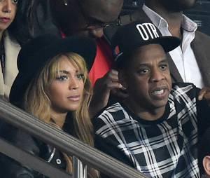 Beyoncé et Jay Z dans les tribunes du Parc des Princes pour PSG vs FC Barcelone