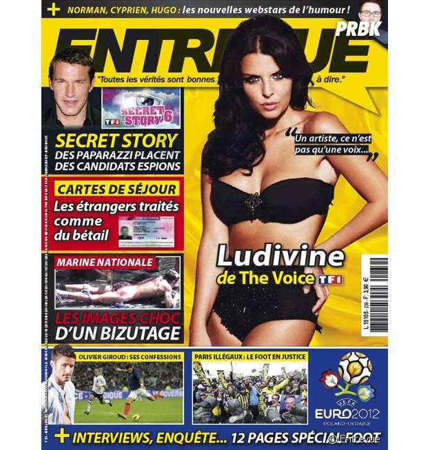 Ludivine Aubourg sexy en couv du magazine Entrevue