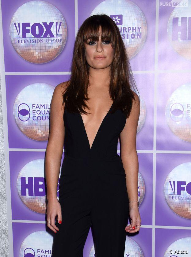 Lea Michele sexy et décolletée aux Family Equality Council's Awards, le 28 février 2015 à Los Angeles