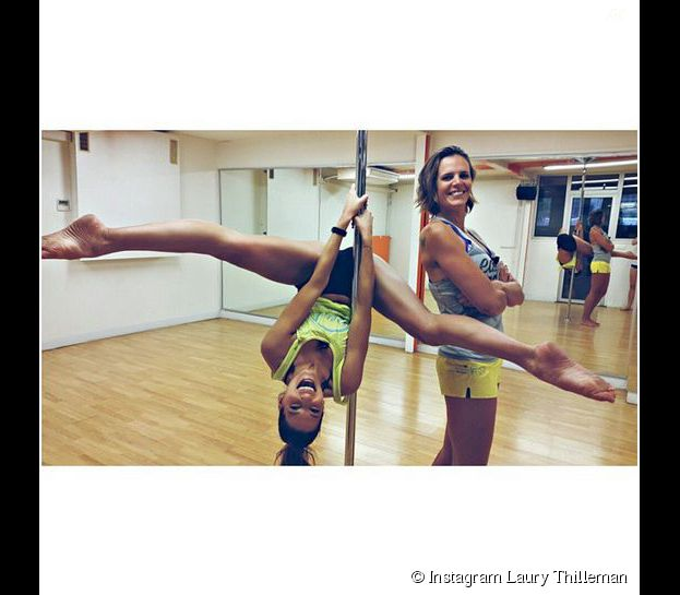 Laury Thilleman en mode pole-dance sur Instagram, le 6 mars 2015
